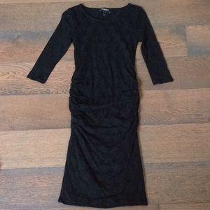Black lace maternity dress